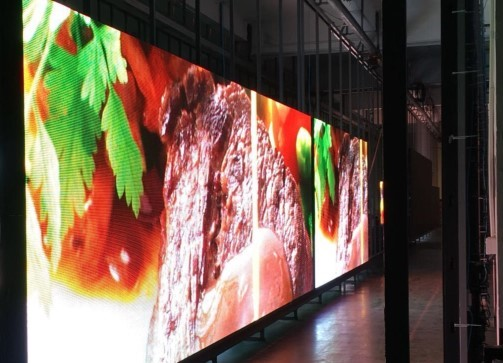 P10 LED screen displaying food for Distinctive designs Australia for LED trailer Brisbane